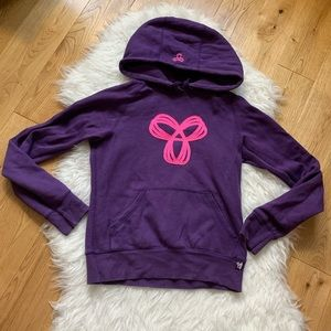 TNA Purple Pink Pull over Hoodie Size Small